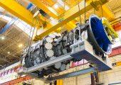 PSP31372-000, 9HA.01 Gas Turbine, Rotor on Half Shell, Case, People, Belfort, France, Europe, DI-2800x4200